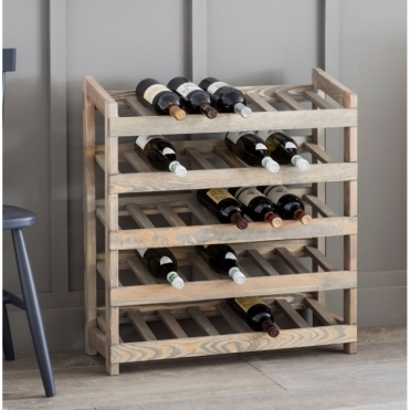 Aldsworth Wine Rack Spruce - Holds 35 Bottles