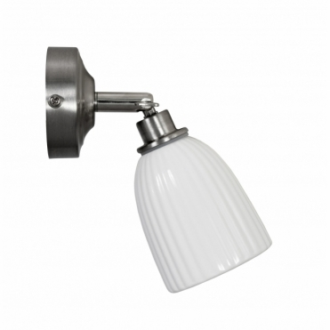Alma Bathroom Spotlight Ceramic - Satin Nickel