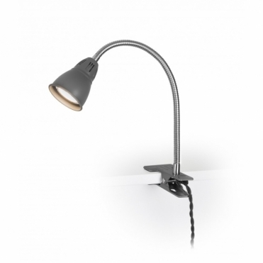 Cavendish Clip Lamp Charcoal Light