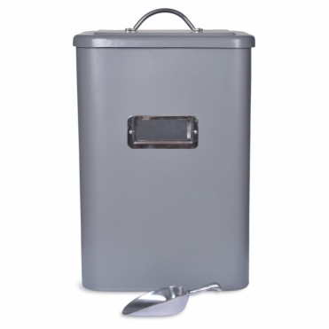 Pet Bin Charcoal with Scoop - Large
