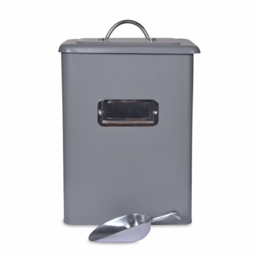 Pet Bin Charcoal with Scoop - Medium