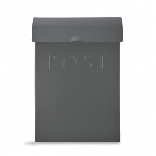 Garden Trading Post Box with Lock Charcoal