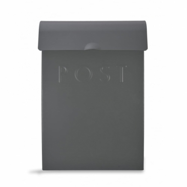 Post Box with Lock Charcoal