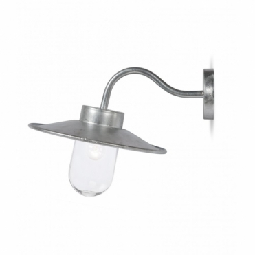 St Ives Swan Neck Light Galvanised Lamp