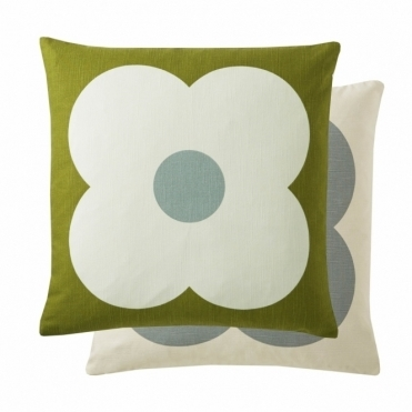 Giant Abacus Flower Cushion - Apple / Duck Egg