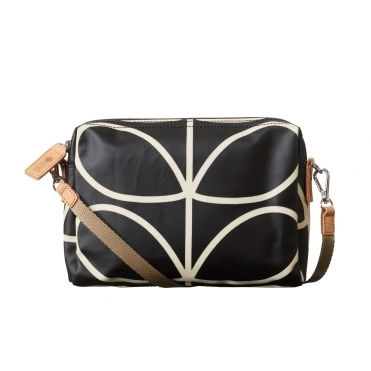 Giant Linear Stem Cross Body Bag - Liquorice