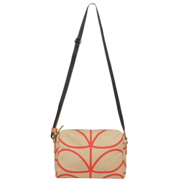 Giant Linear Stem Small Cross Body Bag - Stone