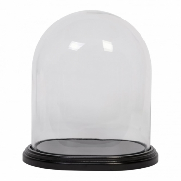Glass Display Dome Bell Jar with Wooden Base - Large