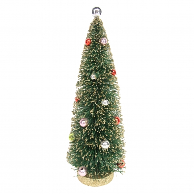 Christmas Tree Decorated.Gold Decorated Christmas Tree Ornament Large