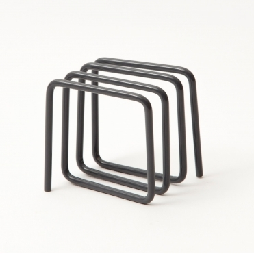 Grey Metal Letter Holder Rack