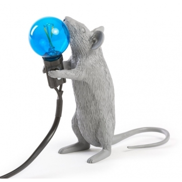 Grey Mouse Lamp - Standing