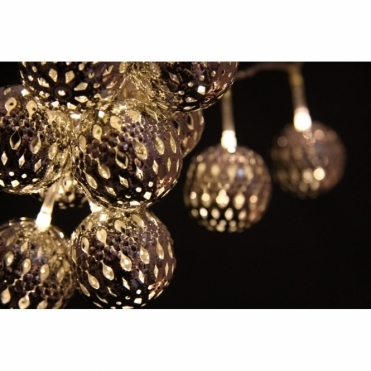 Grand Maroq Silver LED Fairy String Lights Moroccan