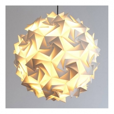 Luminosity Aperture Medium 48cm Ceiling Pendant White Light Shade