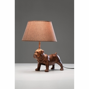 Pug Table Lamp Dog Light