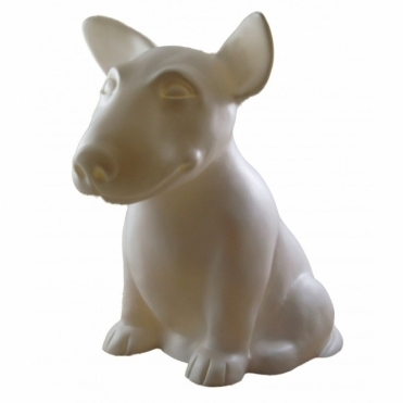 White Onion Dog Bull Terrier Table Lamp