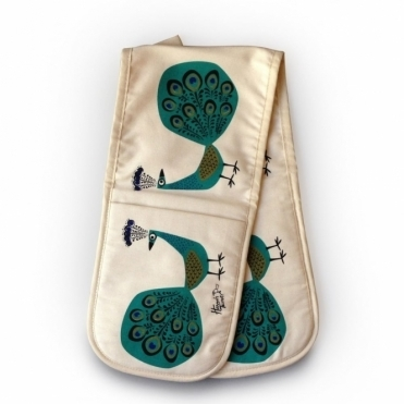 Peacock Double Oven Glove