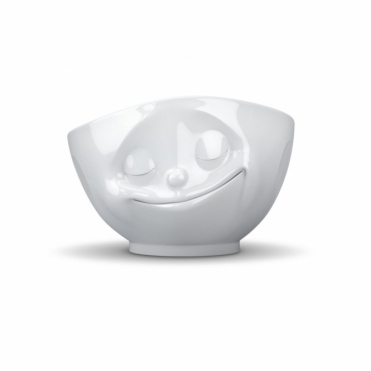Happy Face Porcelain Bowl White
