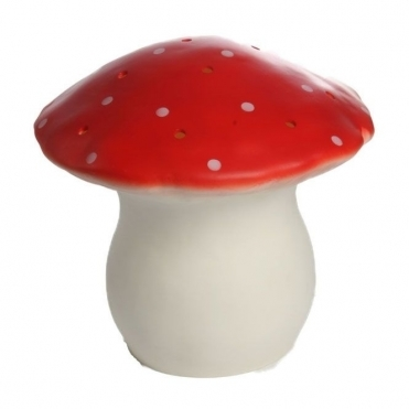 Large Mushroom Table Lamp Night Light - Red