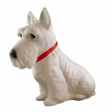 Scottie Dog Terrier Table Lamp & Night Light - White