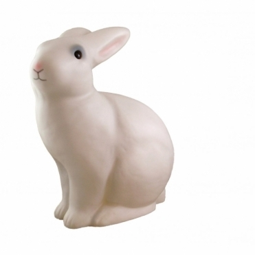 Sitting Bunny Rabbit Table Lamp & Night Light White