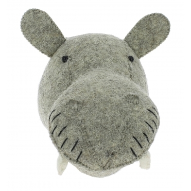Hippo Felt Animal Wall Head - Mini