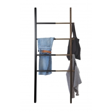 Hub Clothes / Towel Ladder - Black / Walnut