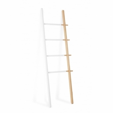 Hub Clothes / Towel Ladder - White / Natural