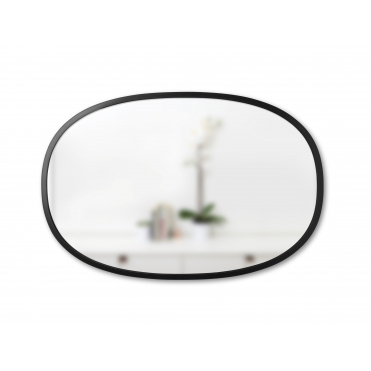 Hub Oval Wall Mirror Large - Black