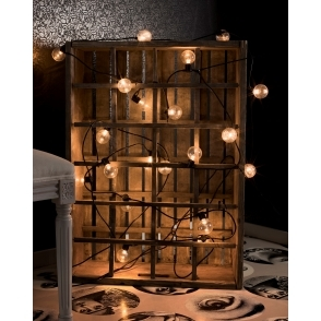 Hurn & Hurn Discoveries 20 Amber LED Round Bulb String Lights - Indoor & Outdoor