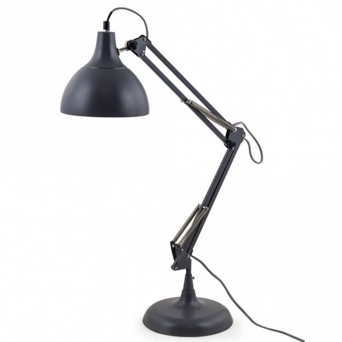 Hurn & Hurn Discoveries Angled Desk Table Lamp - Matte Grey