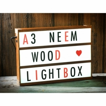 Bespoke Neem Wood A3 Cinema Light Box