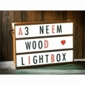 Hurn & Hurn Discoveries: Bespoke Neem Wood A3 Cinema Light Box