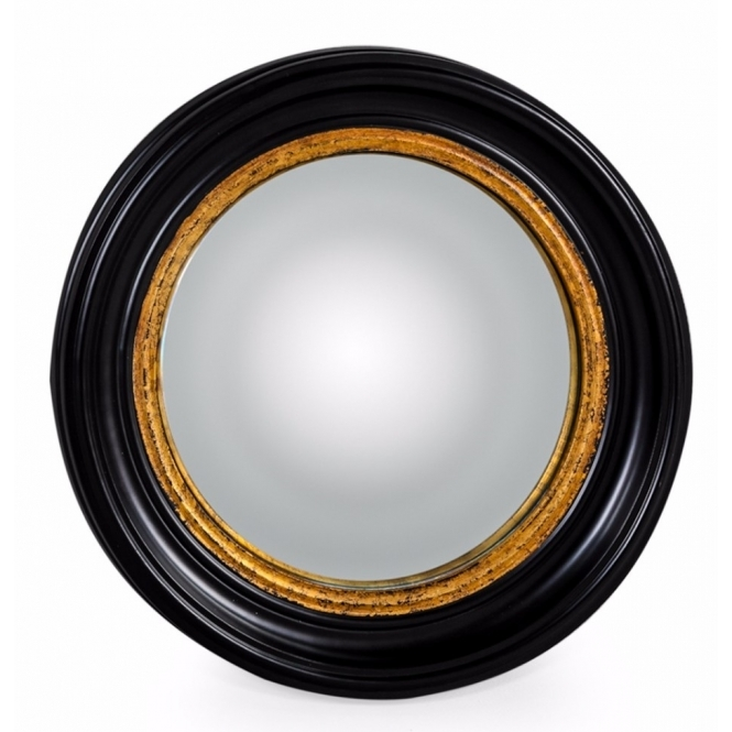 black gold convex fish eye wall mirror hurn and hurn. Black Bedroom Furniture Sets. Home Design Ideas