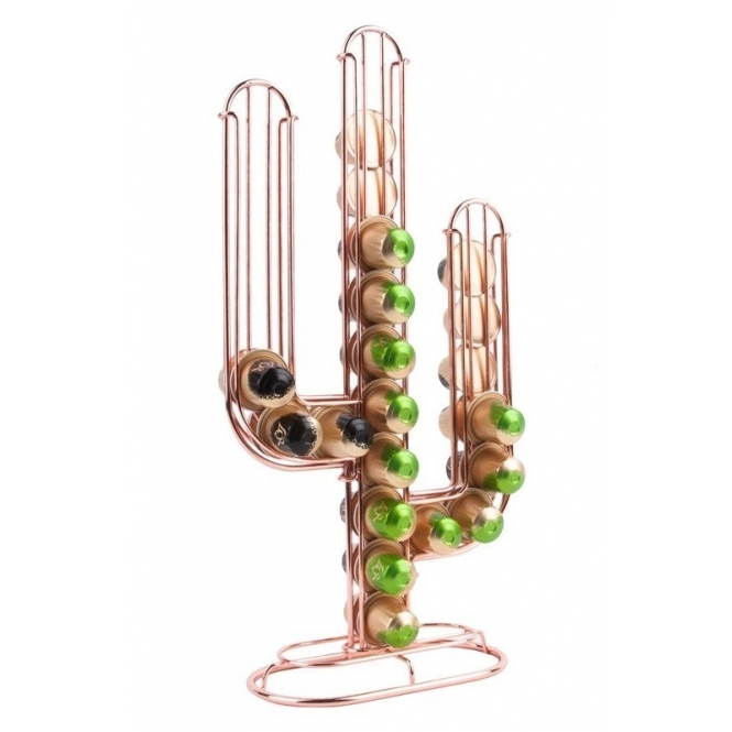 Hurn & Hurn Discoveries Cactus Coffee Capsule Holder - Copper
