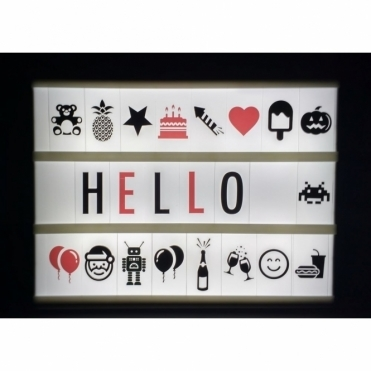 Cinema Light Box A4 120 Black & Red Letters, Numbers & Symbols USB