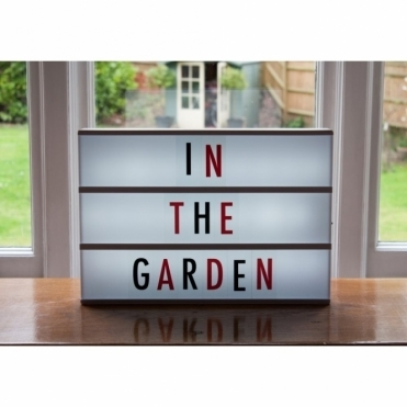 Cinema Light Box Large A3 with 85 Black & Red Letters, Numbers & Symbols + Free Extra Letters Pack
