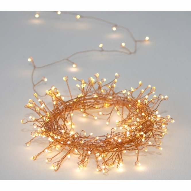 Hurn & Hurn Discoveries Cluster Copper 300 LED String Light Chain - Indoor / Outdoor