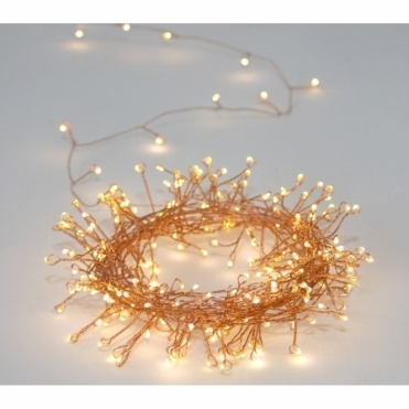 Cluster Copper 300 LED String Light Chain - Indoor / Outdoor