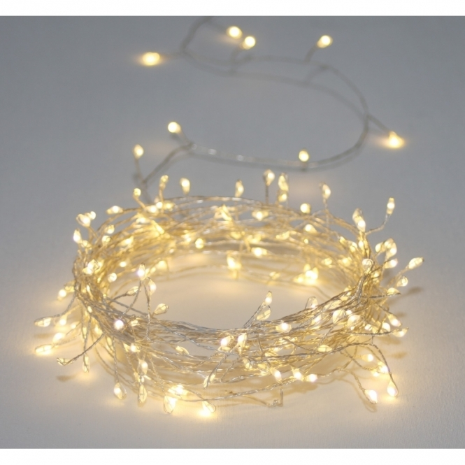 Cluster Silver 150 LED String Light Chain - Indoor / Outdoor