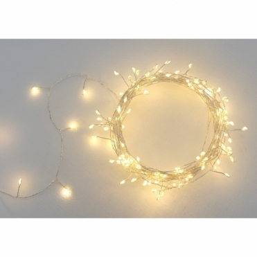 Cluster Silver 300 LED String Light Chain - Indoor / Outdoor