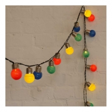 Coloured Pop Lights Garland LED Fairy String Lights - Indoor / Outdoor