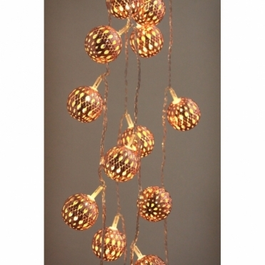Copper Galore Grand Maroq LED Chain Fairy Lights Moroccan - Mains Powered