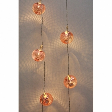 Copper Lanterns LED Chain Fairy Lights - Battery Operated