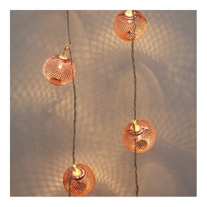 Hurn & Hurn Discoveries Copper Lanterns LED Chain String Fairy Lights - Mains Powered