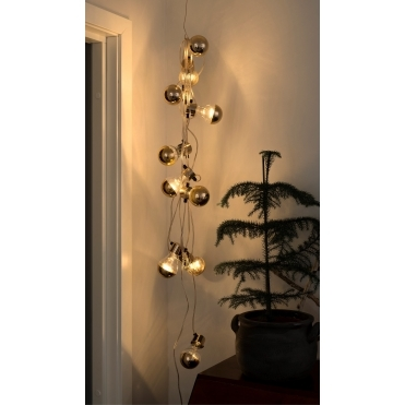 Copper LED Warm White Bulb String Lights - Indoor & Outdoor