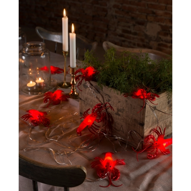 Hurn & Hurn Discoveries Crayfish / Lobster LED String Fairy Lights - Battery Operated