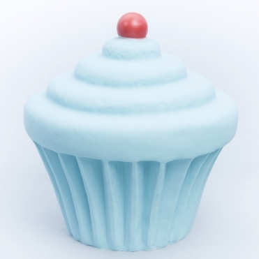 Cupcake Table Lamp / Night Light - Pastel Blue