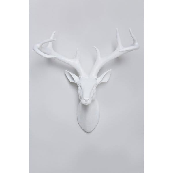 deer stag deco head wall art white hurn and hurn. Black Bedroom Furniture Sets. Home Design Ideas