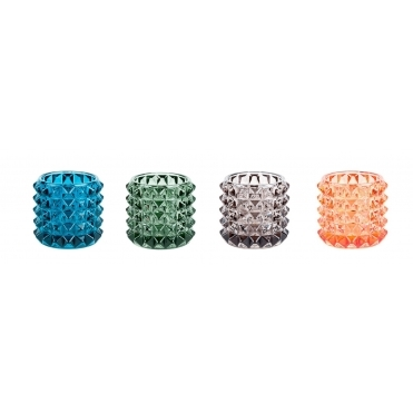 Diamond Cut Tealight Holders Various Colours - Set of 4
