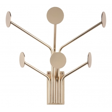 Dots 6 Coat Hooks - Gold